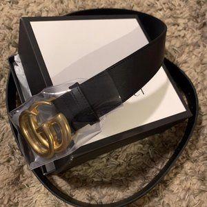 Gucci Belt Black Leather Size 44